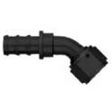 Picture of Black 45 Degree Push Lock Hose End